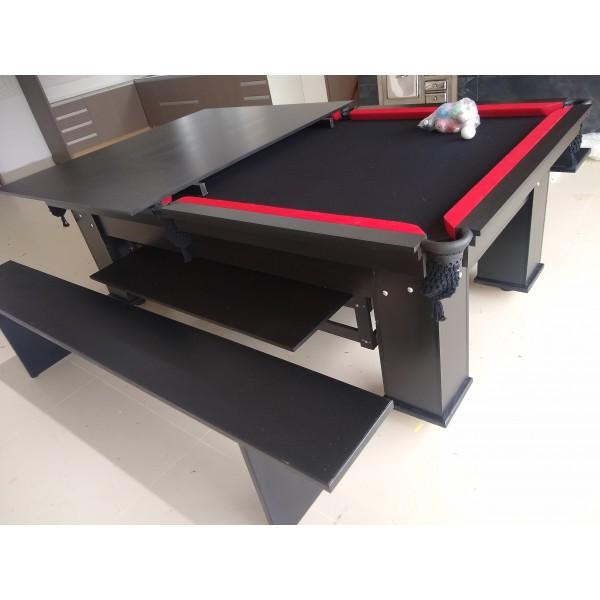 Mesa Moderna de cestinha com Tampão de jantar e bancos